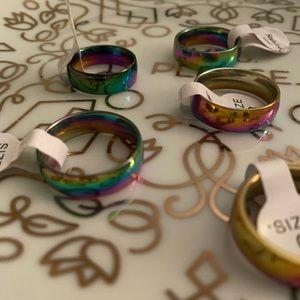 Rainbow Stainless Unicorn 🦄 Ring
